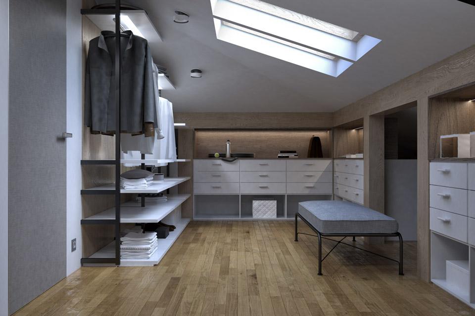 Дизайн проект інтер'єру гардероба. Вид-01