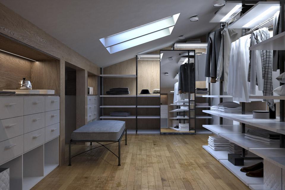 Дизайн проект інтер'єру гардероба. Вид-02