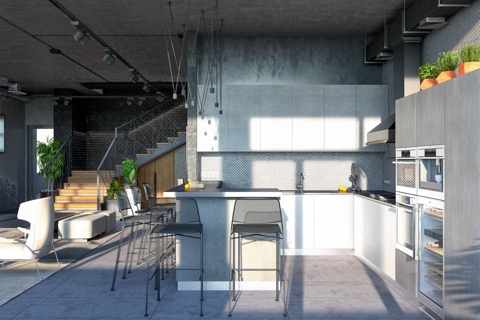 Дизайн проект інтер'єру вітальні. Вид-03