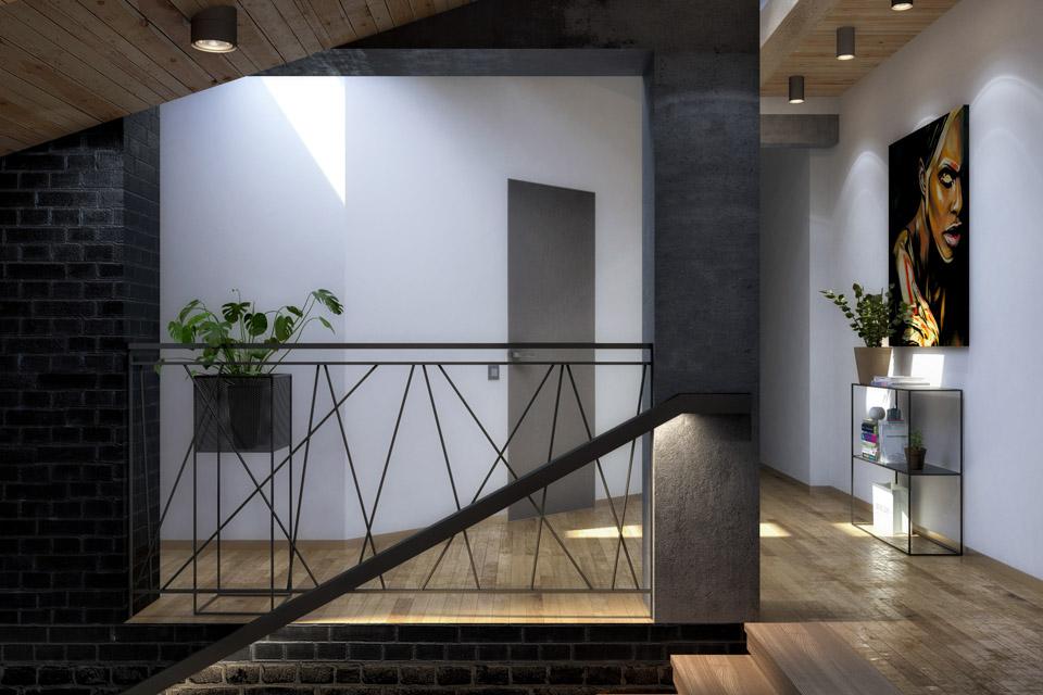 Дизайн проект сходів. Вид-01