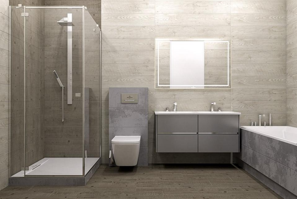 Дизайн проект інтер'єру ванної кімнати.