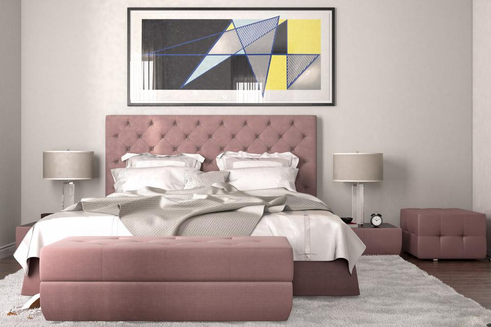 Дизайн проект інтер'єру спальні Вид-01