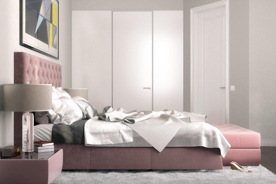 Дизайн проект інтер'єру спальні Вид-02