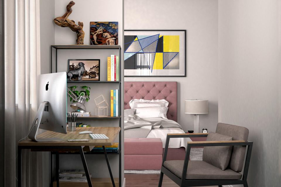 Дизайн проект інтер'єру спальні Вид-03