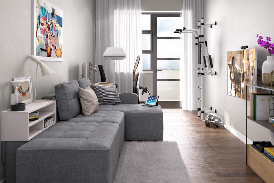 Дизайн проект інтер'єру гостьової кімнати. Вид-01