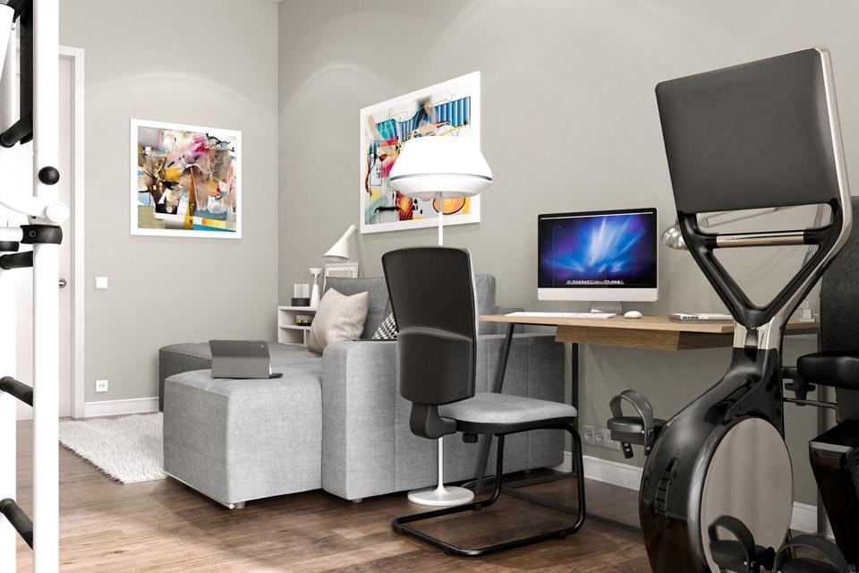 Дизайн проект інтер'єру гостьової кімнати. Вид-02