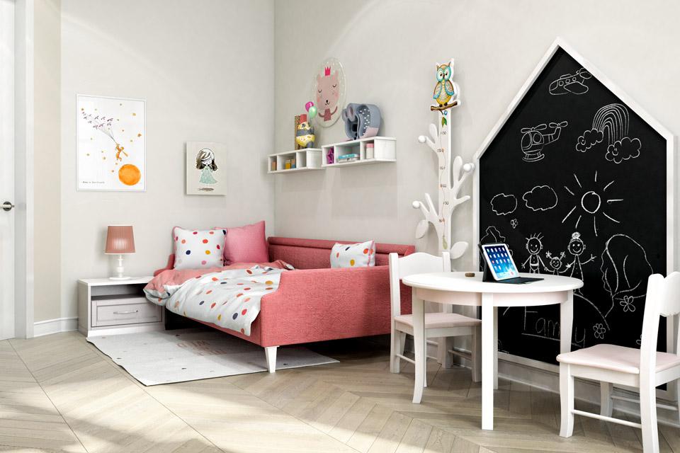 Дизайн проект інтер'єру дитячої кімнати. Вид-02