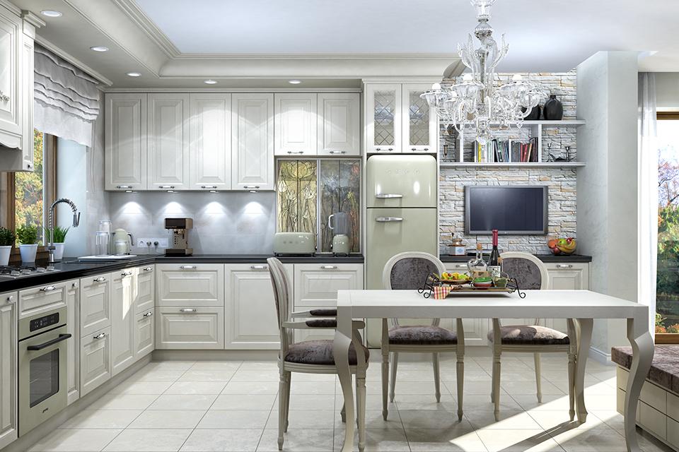 Дизайн-проект интерьера кухни-столовой. г.Тячев Вид-01