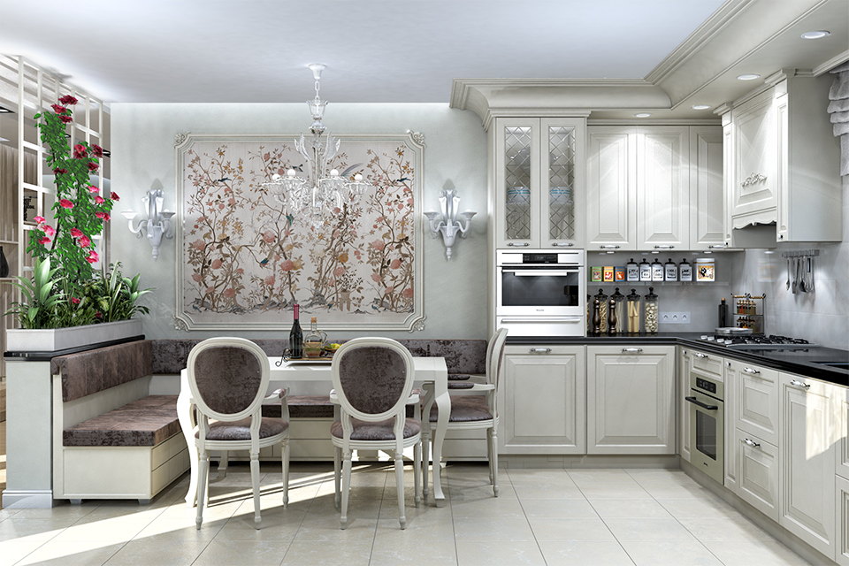 Дизайн-проект интерьера кухни-столовой. г.Тячев Вид-02