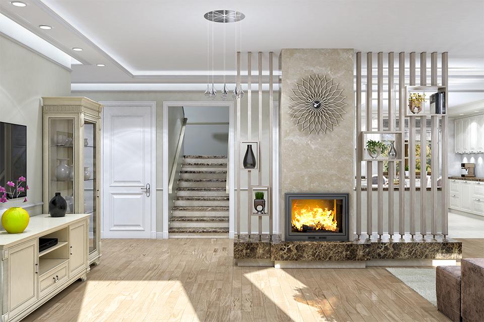 Дизайн-проект интерьера гостиной комнаты. г.Тячев Вид-01