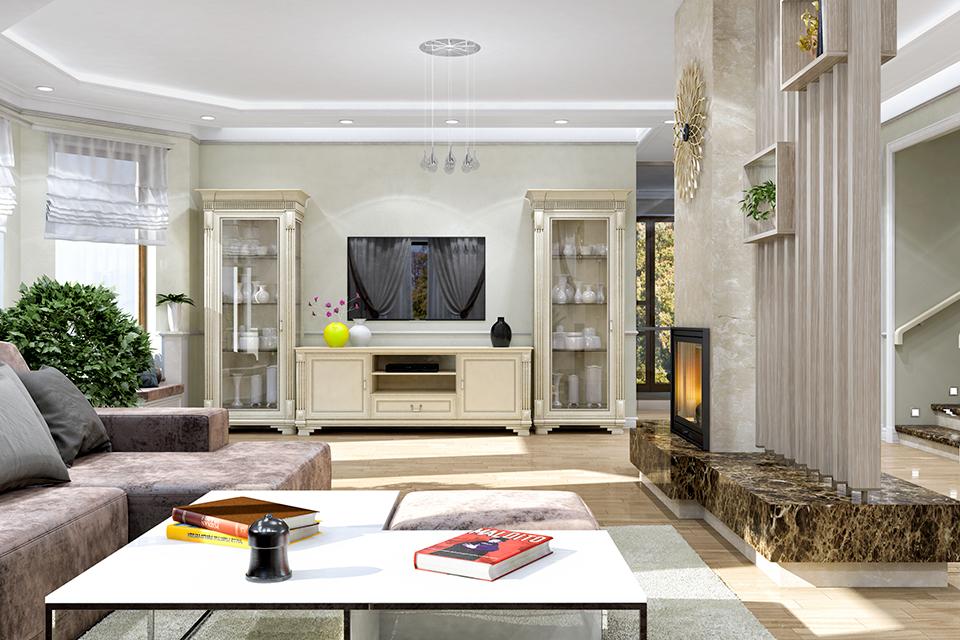 Дизайн-проект интерьера гостиной комнаты. г.Тячев Вид-04