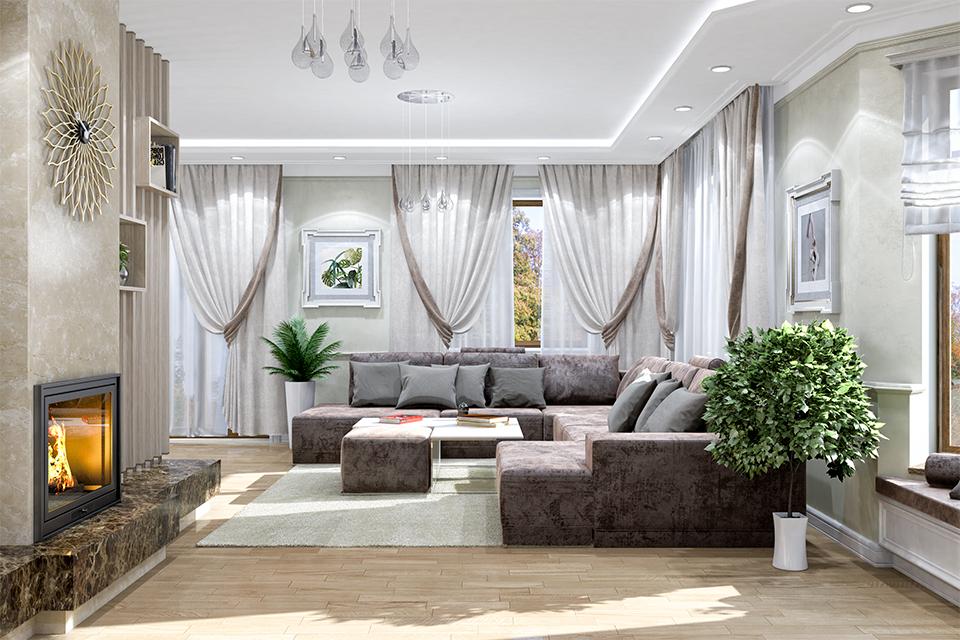 Дизайн-проект интерьера гостиной комнаты. г.Тячев Вид-05