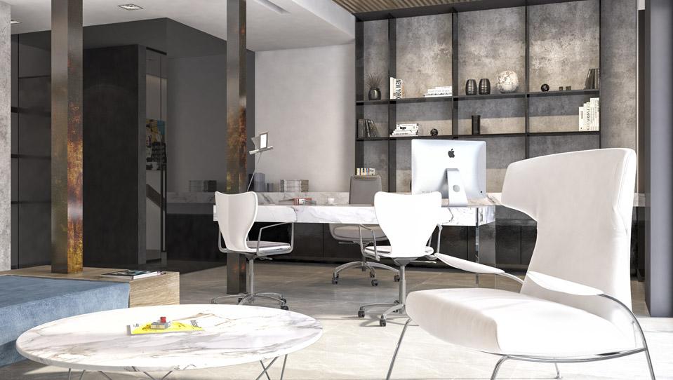 Дизайн проект інтер'єру офісу м.Ужгород. Вид-03