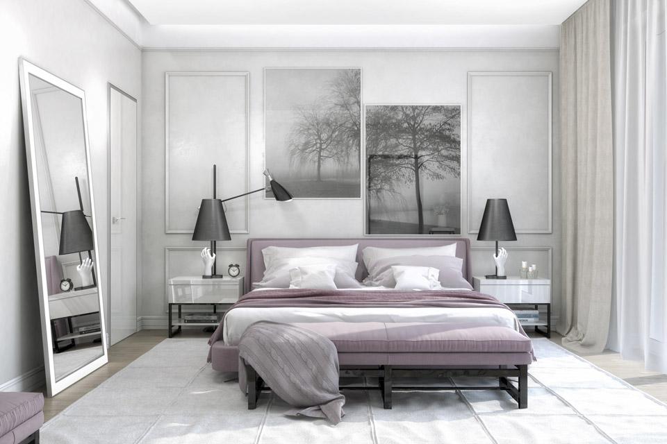 Дизайн проект інтер'єру спальні. Вид-01