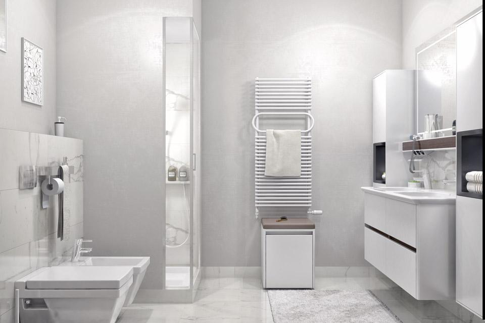 Дизайн проект інтер'єру ванної кімнати. Вид-05