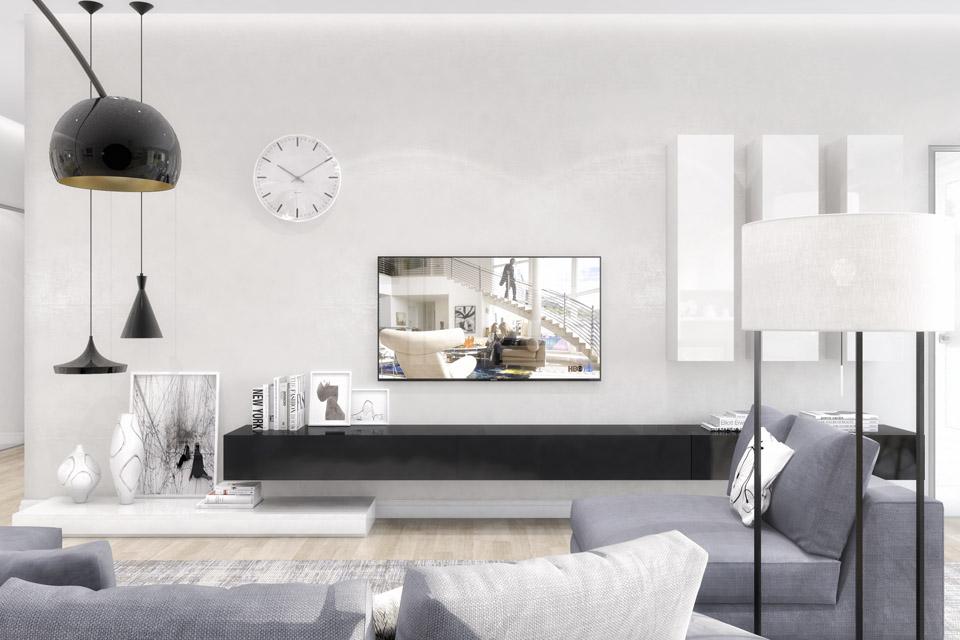 Дизайн проект інтер'єру кухні-вітальні. Вид-06