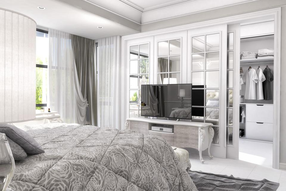 Дизайн проект інтер'єру спальні. Вид-02