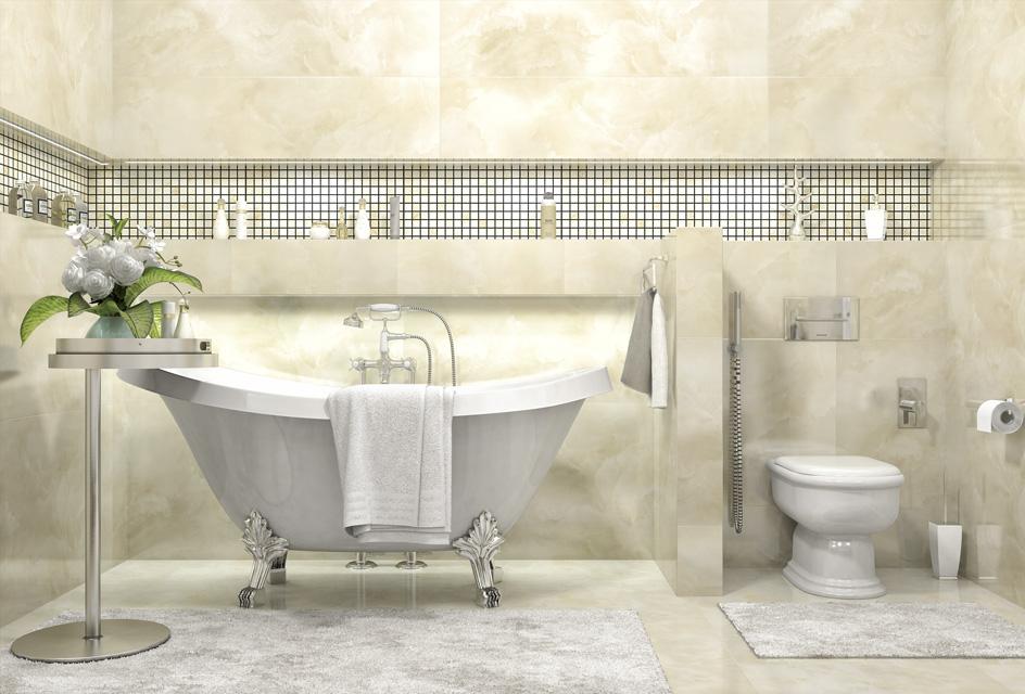 Дизайн проект інтер'єру ванної кімнати. Вид-02