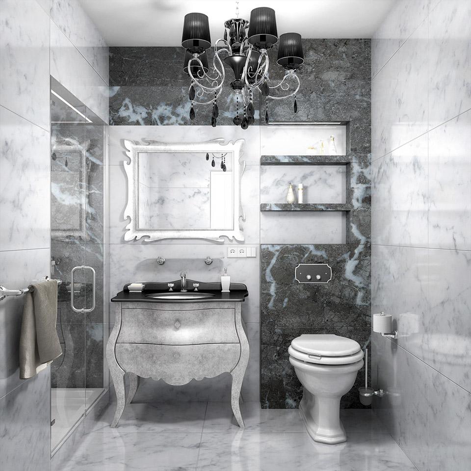 Дизайн проект інтер'єру ванної кімнати. Вид-03