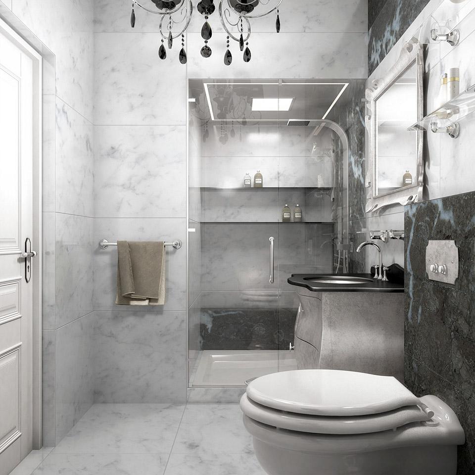 Дизайн проект інтер'єру ванної кімнати. Вид-04