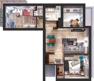Дизайн проект интерьера трехкомнатной квартиры. г.Ужгород 2017г.