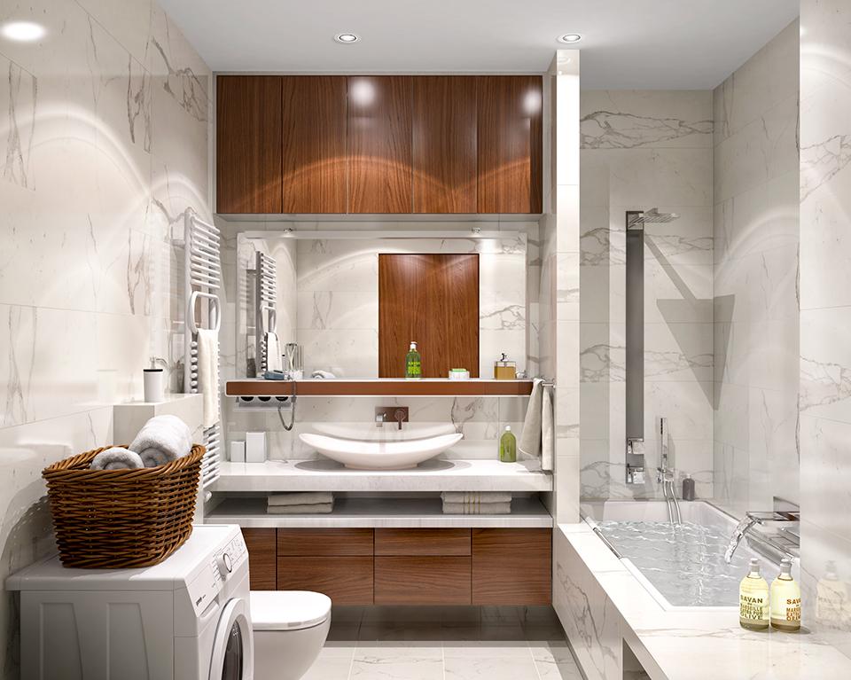 Дизайн-проект интерьера ванной комнаты. г.Ужгород Вид-01