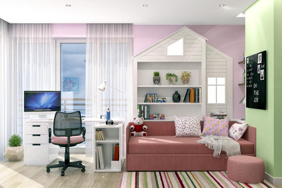 Дизайн-проект интерьера детской комнаты. г.Ужгород Вид-01