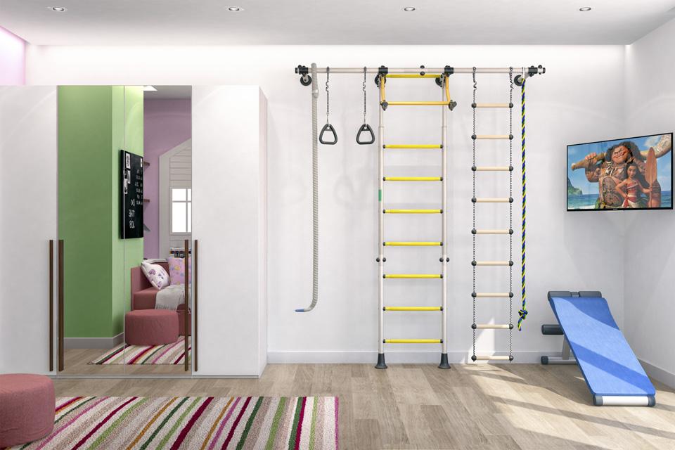 Дизайн-проект интерьера детской комнаты. г.Ужгород Вид-02