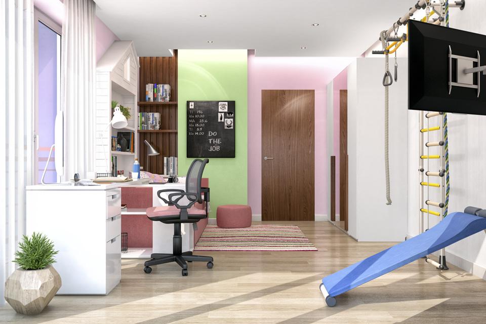 Дизайн-проект интерьера детской комнаты. г.Ужгород Вид-03