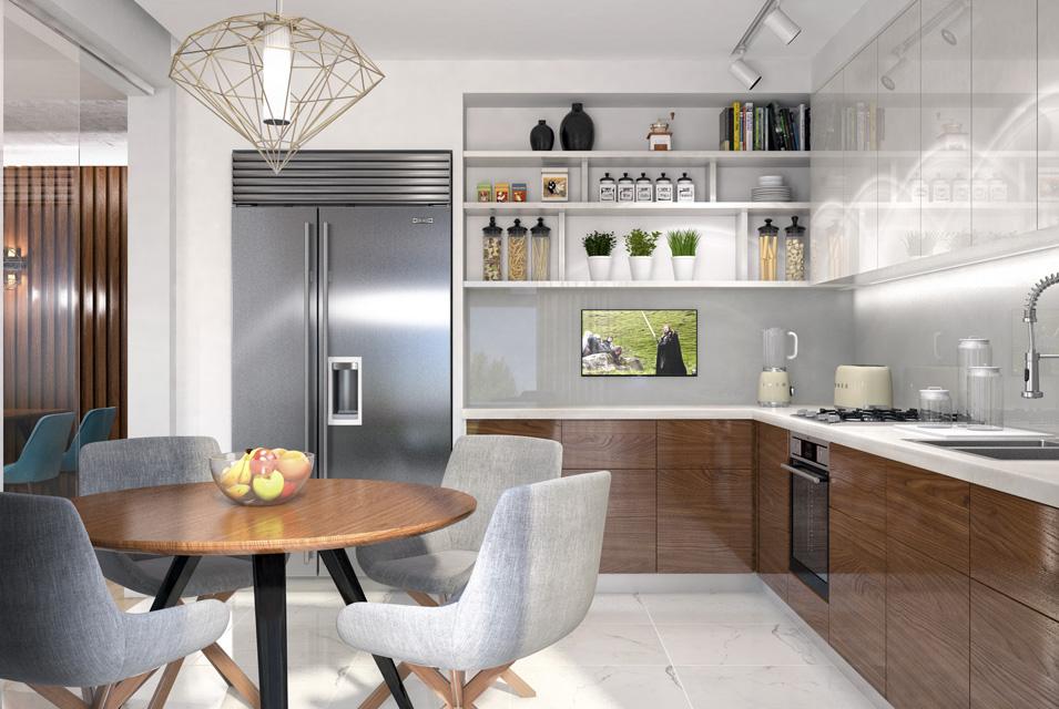 Дизайн-проект интерьера кухни. г.Ужгород Вид-01