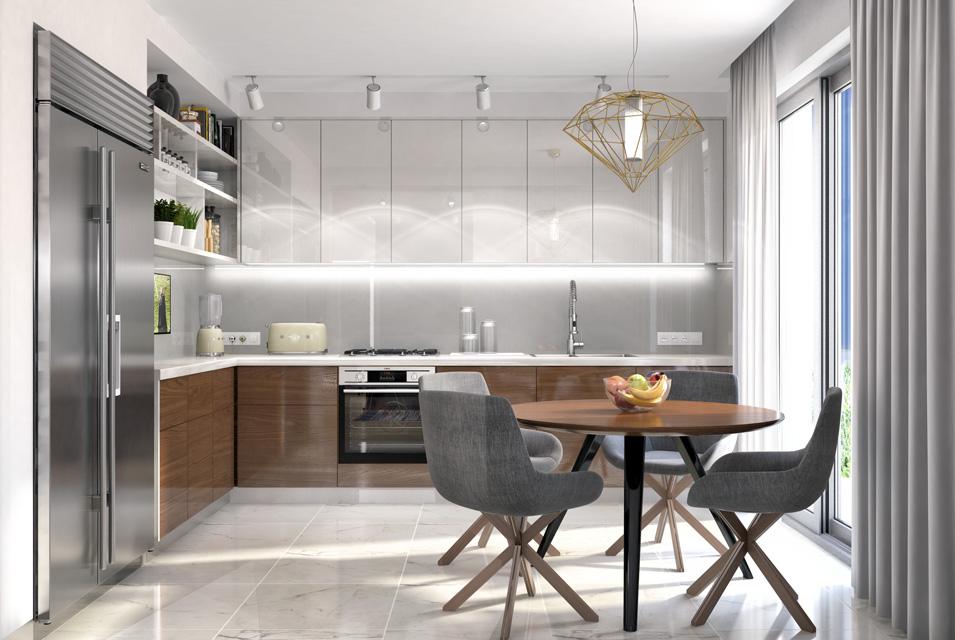 Дизайн-проект интерьера кухни. г.Ужгород Вид-02