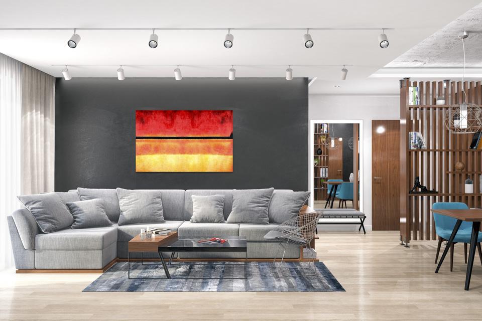 Дизайн-проект интерьера гостиной комнаты. г.Ужгород Вид-01