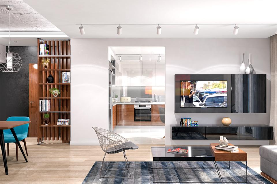 Дизайн-проект интерьера гостиной комнаты. г.Ужгород Вид-02