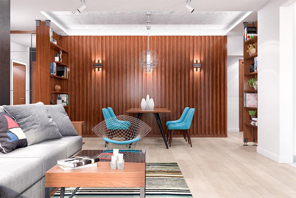 Дизайн-проект интерьера гостиной комнаты. г.Ужгород Вид-03