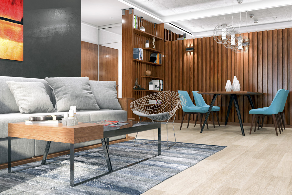 Дизайн-проект интерьера гостиной комнаты. г.Ужгород Вид-04