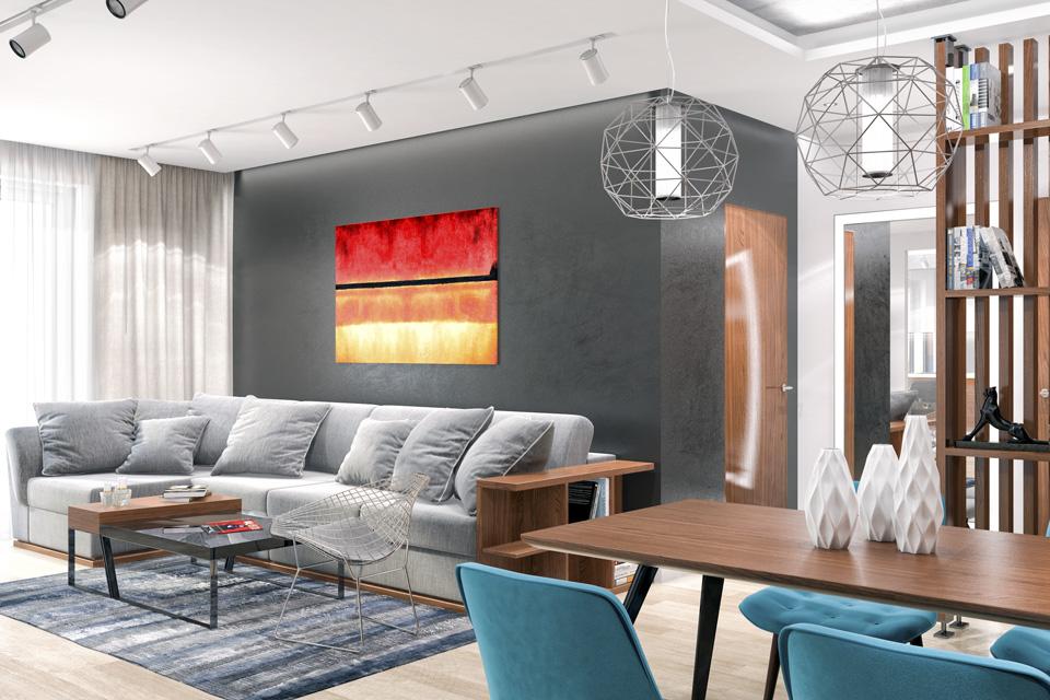 Дизайн-проект интерьера гостиной комнаты. г.Ужгород Вид-06