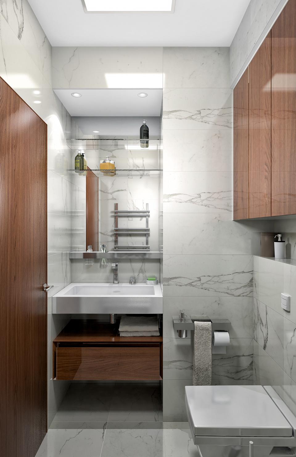 Дизайн-проект интерьера ванной комнаты. г.Ужгород Вид-02